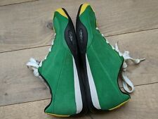 Men's A2Z Hunziker Collection British Racing Green/Yellow Driving Shoes US 10