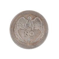 1pc Entscheidungsmünze Ja oder Nein Antike stereoskopische Präge Andenkenmünze