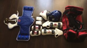 Taekwondo Sparring Gear Set Boy's Complete Size S
