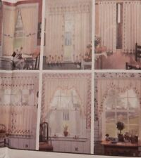 8694 Simplicity Cafe Curtains Stenciled Window Dressings panels Swags
