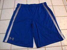 Under Armour Shorts Blue Loose Athletic Basketball Running Pockets Mens Medium