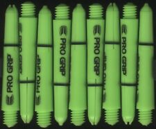 1.5in. 2ba Electric Green TARGET Pro Grip Dart Shafts & Springs: 1 set of 3