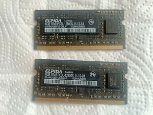 2 x 4gb ( 8gb in total) sodimm ddr3  for laptop