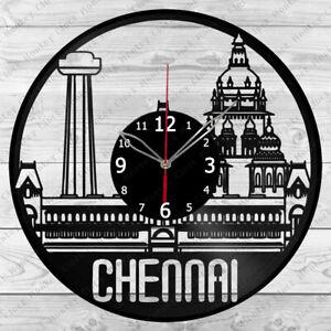 Vinyl Clock Chennai  Vinyl Record Wall Clock Home Art Decor Handmade 6180