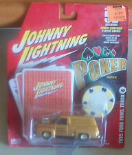 Johnny Lightning 1955 Ford panel gold Poker series 11 on card