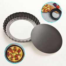 New listing 9 In Tart Pie Pan Cake Baking Tray Non Stick Loose Base Mold Removable Bottom