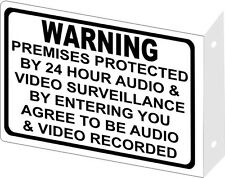 Warning Audio Video Surveillance 2D Wall Mount Sign