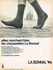 PUBLICITE ADVERTISING  1967    LA BONNAL   chaussettes