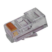 Platinum Tools EZ RJ45 Network Lan Crimp Connector CAT6 Pack of 50 100010C