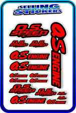 RC AIRCRAFT STICKERS HELI OS ENGINES CAR BUGGY O.S SPEED NITRO PIPE RED BLACK