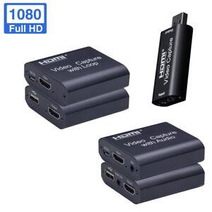USB HDMI Video Capture Karte USB mit Schlaufe und Audio unterstützt 1080p 4k