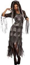 "Adult Ladies HALLOWEEN COSTUME ""Zombie Mistress"" Dress & Headpieces LARGE 14-16"