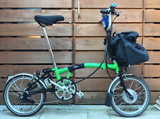 BROMPTON ELECTRIC M-TYPE M6L FOLDING BIKE BICYCLE - WORLDWIDE POSTAGE