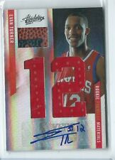 2010-11 Absolute Evan Turner RPM JUMBO JERSEY / BALL RELIC AUTO RC 2/25 76EERS