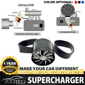 Car Air Intake Turbonator Single Fan Engine Gas Fuel Saver Turbine Charger Parts