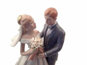 """8"""" Fine Porcelain  Bride and Groom Cake top decoration by Apple Tree"""