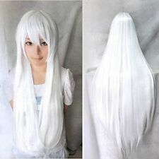 Heat Resistant Synthetic Long Cosplay Wig Fancy Straight Hair Wigs with Bangs