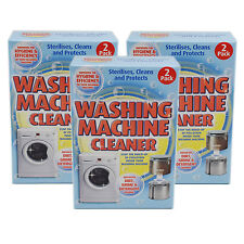 3x Washing Machine Cleaner - Steralises, Cleans & Protects (2x3=6 Cleans)