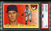 1955 Topps Baseball #68 JIM DAVIS Chicago Cubs RC ROOKIE PSA 5 EX