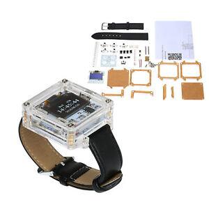 SCM DIY LED Digital Watch Electronic Clock Kit With Transparent Cover Hot M8K5