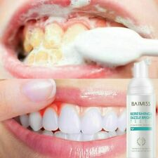 BAIMISS Tooth Cleaning Mousse Toothpaste Teeth Whitening Remove Plaque Stains