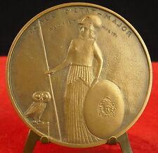 Médaille Ecole d'état-major Duci et militi chouette Owl par Rivaud Medal 猫头鹰铜牌