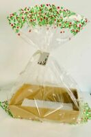 HAMPER GIFT BOX DIY KIT FESTIVE WRAPPING CHRISTMAS Sweet Tray Cardboard GOLD