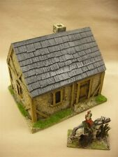 28MM PMC GAMES ME01 (PAINTED) SINGLE STOREY HOUSE SLATE ROOF - MEDIEVAL ECW