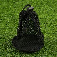 Black Large Bulk Nylon Mesh Bag Pouch 12-16 Golf Tennis Balls Black Durable Use