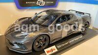 Maisto 1:18 Scale - 2020 Chevrolet Corvette Stingray - Grey - Diecast Model Car