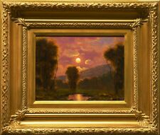 Oil Painting Landscape Western Vintage Antique Art Framed MAX COLE 7298