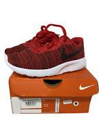 NIKE Tanjun PS University Red Black White Shoes Childrens Size 13C 818382 602