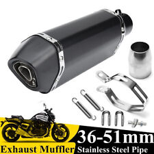 Universal 36-51mm Motorcycle Exhaust Muffler Tail Pipe Slip on Stainless Steel