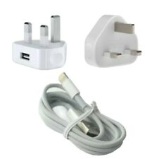 Genuine Apple USB Plug Adaptor Charger Lightning USB Cable For iPhones