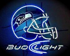 "New Seattle Seahawks Bud Light Helmet Neon Sign 17""x14"""