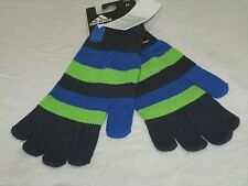 BNWT - ADIDAS  Striped Knitted Winter Gloves  Blue Green  Small