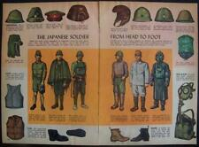 Japanese Soldier Uniform WWII 1945 Vintage pictorial