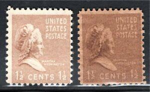 805 1 1/2 cent Martha Washington Under and Overinked.