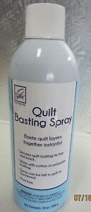 QUILT BASTING SPRAY..BASTE QUILT LAYERS TOGETHER INSTANTLY