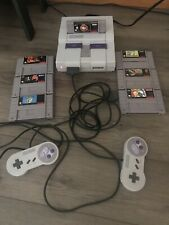 Super Nintendo SNES Console Bundle with 7 Games