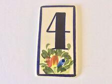 TILE HOUSE ADDRESS NUMBER 4 COBALT BLUE FLORAL 1 SOLD INDIV, 7 AVAILABLE