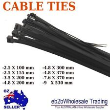 Nylon Cable Tie Ties Black 2.5 3.5 4.8 7.2 7.6 9 X100 150 200 300 370 530mm UV66