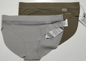 Calvin Klein Bikini Brief Perfectly Fit Flex in Double Pack In GREY/OLIVE GREE