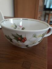 Winterling Bavaria Roslau China Cabinet Tea Cup  Christmas Rose December b'day