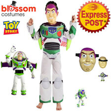 N48 Buzz Lightyear Toy Story 4 Boys Kid Child Book Week Costume Jumpsuit Mask