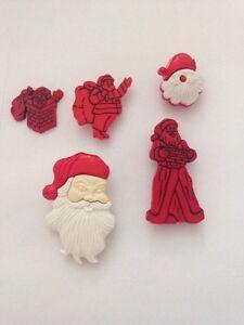 CHRISTMAS CHILDREN'S  So Many Santas Father Christmas Xmas Cake Decs Toppers