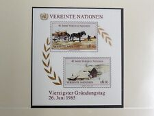 TIMBRES DES NATIONS-UNIES  : 1985 YVERT BLOC FEUILLET N° 2** NEUF SANS CHARNIERE