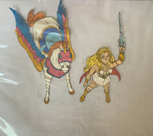 she ra pop animation 2 cels In folder with drawing/photocopies xmas special A++
