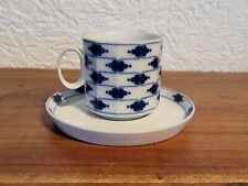 Rosenthal Polygon Korinth blau Tapio Wirkkala Kaffeetasse mit Untertasse