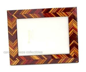 Natalini J-Louis Photo Frame Brown Wood Shades In Modern Angled Design Italy 5x7